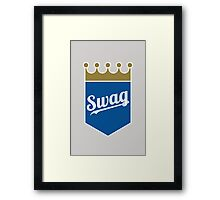 Royal Swag Crown Framed Print
