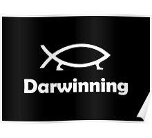 Darwinning (White design) Poster