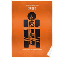 No330 My SPEED minimal movie poster Poster