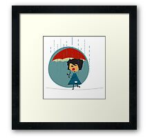Little girl acrobat Framed Print