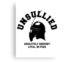 UNSULLIED Canvas Print