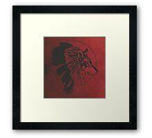 Wolf Warrior Spirit  Framed Print