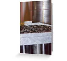 wine bottles in the cellar Greeting Card