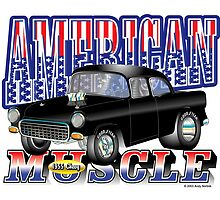 American Muscle 1955 Chevy Hot Rod by birchbrook