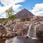 River Coupall falls beneath Buachaille Etive Mor by Christopher Cullen