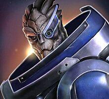 Garrus Vakarian Warrior - Mass Effect by Mellark90