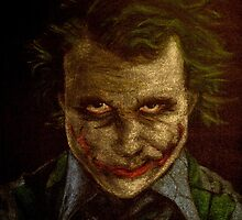 Digitally Enhanced version of Heath Ledger as The Joker by Will Dudley