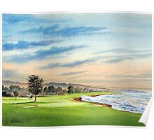 Pebble Beach Golf Course 18Th Hole Poster