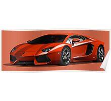 Realistic Lamborghini Poster
