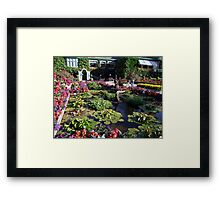 Italian Garden at the Butchart Gardens Framed Print