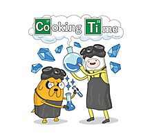 Time to Cook With Adventure Time Parody Photographic Print