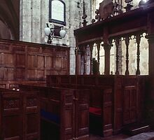 Box Pews Abbey Dore England 198405170055 by Fred Mitchell