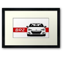Subaru BRZ Front end with red stripe Framed Print