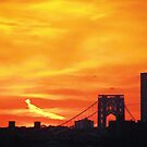 Sunset in New York City  by Alberto  DeJesus