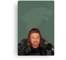 Ned Stark Canvas Print