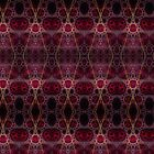 """""""Red & Gold Fractile"""" (Patterns) by christopher r peters"""