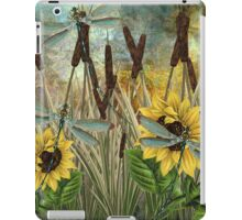 DRAGONFLIES AND SUNFLOWERS iPad Case/Skin