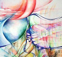 """Golden Gate Bridge"" Original Abstract Painting Modern Contemporary Fine Art by uniquestroke"