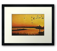 On the Lonely Shore Framed Print