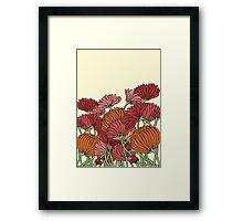 The Retro Garden Flowers Framed Print