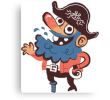 Cap'n Bluebeard Canvas Print