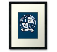 Idris University (dark-based) Framed Print