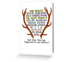 """The Mortal Instruments: """"Antlers (Don't Order Any of the Faerie Food)"""" Greeting Card"""