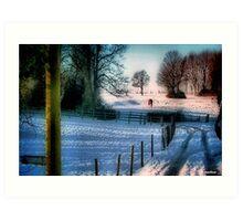 The Snow Fields Art Print