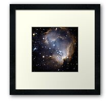 Infant Stars in Nearby galaxy Framed Print