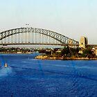 Sydney Harbour Bridge New South Wales Australia by Sandra  Sengstock-Miller