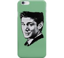 Dean Winchester in black. iPhone Case/Skin
