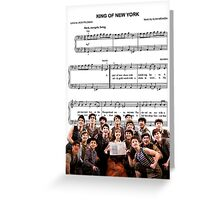 King of New York - Newsies Greeting Card