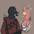 Pyro and Balloonicorn by plantqueen