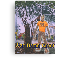 War Damn Groot Canvas Print