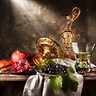 Still Life with Berkermeyer & Pomegranates by Jon Wild