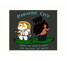 Chibi Guns'n'roses: Paradise city Art Print