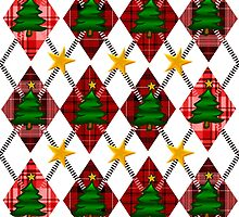 Scottish Christmas Argyle Pattern by PrivateVices