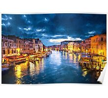 Grand Canal Illuminated Poster