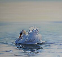 Swan Morning by Jane Delaford Taylor