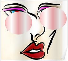 Beauty in Me - Lips Eyes Beauty Abstract Model Poster