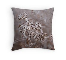 Of Weeds, Seed Pods and Crystals  Throw Pillow