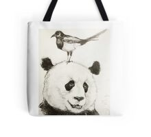 Panda and the Magpie Tote Bag