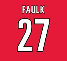 Carolina Hurricanes Justin Faulk Jersey Back Phone Case by Russ Jericho