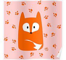Cute Fox design artwork Poster