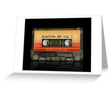 Awesome transparent mix cassette tape volume 1 Greeting Card
