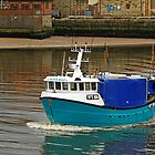 The Olivia Rose In Whitby Lower Harbour by Rod Johnson