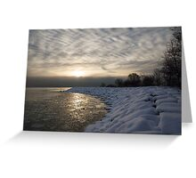 Cold, Moody and Fabulous - a Winter Morning on the Lake Shore Greeting Card