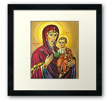 Virgin Marry With Jesus Infant Framed Print