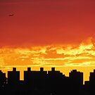 Firey skies over New York City  by Alberto  DeJesus