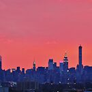 Downtown Dusk, New York City  by Alberto  DeJesus